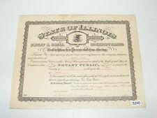 Collectibles Wm.l.ensel Notary Public Embosser Sangamon County Illinois Chicago Vice Hearing Historical Memorabilia
