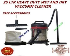25 LITRE HEAVY DUTY WET AND DRY VACCUMM CLEANER.