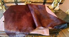Huge Natural Colored Cow Hide Skin Carpet Rug Wall Hanging Art Sz 6ft x 8ft