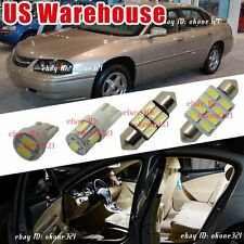 16-pc 6000K White LED Lights Interior Package inside Kit For 2000-2005 Impala