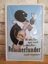 Bommerlunder  Blechschild Nostalgie Schild 30 cm Spirituose