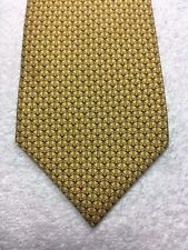 THOMAS PINK MENS TIE GOLD AND GRAY 3.5 X 59