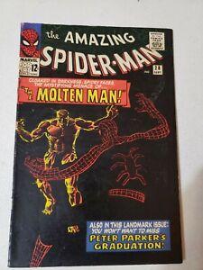 AMAZING SPIDERMAN #28-First APPEARANCE of MOLTEN MAN  (1965)-Decent grade