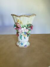 Fitz And Floyd Beautiful Woodland Spring Floral Vase - Original Condition