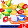 12PC Rollenspiel Küche Obst Gemüse Essen Schneiden-Spielzeug Set Kinder Geschenk