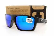 1686487b0d New Costa Del Mar BLOKE Polarized Sunglasses 580G Matte Black Blue Mirror  Glass