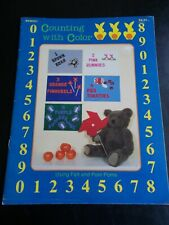Counting with Color Using Felt and Pom Poms Craft Leaflet ~ Craft Library ~ 1984