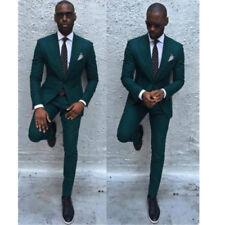 New Dark Green Men Suits Formal Business Tuxedos Men Wedding Suit Jacket+Pants