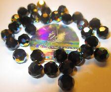 20 Swarovski Perlen 6 mmØ Jet, Hematite, schwarzl Ball / Kugel # 5000-280AB