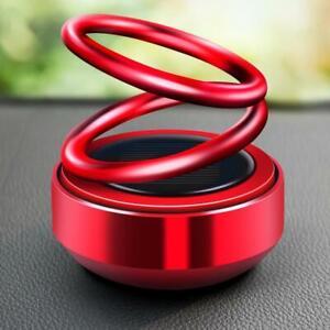 Solar Double Ring Rotating Suspension Car Perfume Air Freshener Perfume Diffuser