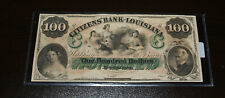 $100 Citizen's Bank of Louisiana Obsolete Note - Uncirculated Remainder Note