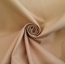 12 Metres Panama Weave Cotton Curtain & Interior Fabric Material In Hay