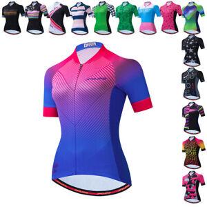 Cycling Jersey Women Mountain Bike Shirts Short Sleeve Road Bicycle Cothing Tops