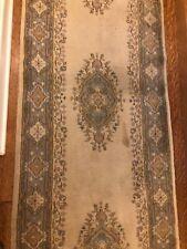Oriental rug 20' runner, pastel colors