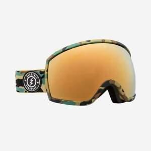 Elektrisch Visual EGG Camo + BL Snowboarding Goggles (Brose / Gold Chrome)