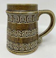 Goebel Merkelbach coffee Mug Stein W Germany Salzglasur brown vintage