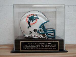 Rob Gronkowski Football Mini Helmet Display Case W/ A Buccaneers Nameplate
