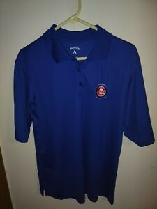 Antigua Chicago Cubs Men's Polo Golf Shirt Size Large
