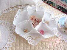 Vintage Battenburg Lace Roll Bun/Biscuit Server/Bun Cozy~White~Wedding/Holiday~