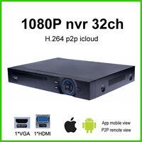 3G/WIFI 1080P 32CH Security video CCTV recorder H.264 full HD DVR NVR P2P ONVIF