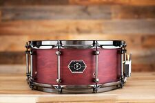 NOBLE & COOLEY 14 X 6 HORIZON SNARE DRUM, MAPLE / MAHOGANY HYBRID, CHERRY STAIN