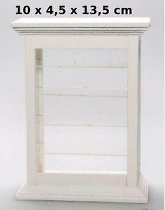 vitrine miniature avec étagères pour maison de poupée  (AK)