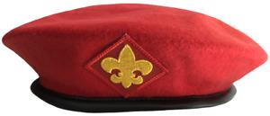 Boy Eagle Scout Uniform Red Felt Beret Cap Hat 2XL XXL Extra Large BSA