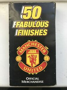 Manchester United 50 Fabulous Finishes VHS Video Nostalgia,