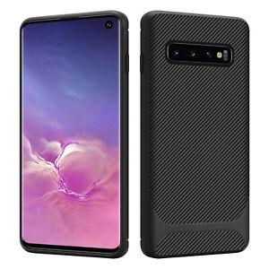 HSP Carbon Design Hülle für Samsung Galaxy S10e | S10 Silikon Handy Schutz Case