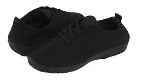 "Arcopedico LS Black ""Shocks"" Lace-Up Shoe Flat Women's sizes 36-42/5-11 NEW!!!"