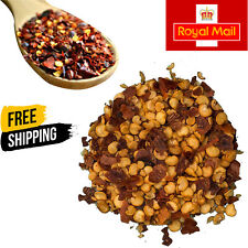 Dried Crushed Red Chilli Flakes 100%Pure Natural Indian Premium Quality Free P&P