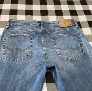 American Eagle 360 Extreme Flex Distress Jeans Size 34 x 36 Men's Slim Skinny