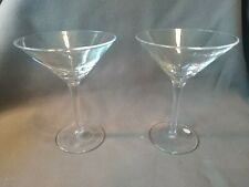Set of two Martini Glasses Clear with swirl design