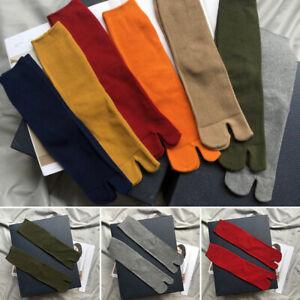 1 Pair Women Japanese Kimono Flip Flop Sandal Split Toe Tabi Ninja Geta Socks