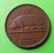 Authentic Irish Half Penny Coin Minted 1941 - Ireland Pig Piglet