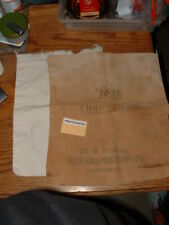 Delta FoodProcessor Ltd ShortGrain Rice Bag Vancouver BC 1940s + Flour Bag 1950s