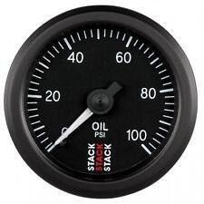 Manómetro de aceite mecánico de Pila-PSI-Dial de 52 mm con cara negra