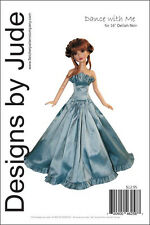 """Dance with Me Doll Clothes Sewing Pattern for 16"""" Delilah Noir Ashton Drake"""