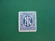 US- & Britische Zone AM Post MiNr 34 C z ( 80 Pfg ) postfrisch, M€ 40,-- (J113)