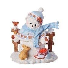 Cherished Teddies Charlotte - Snowbear by Fence Christmas Figure 132074