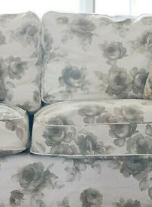 IKEA EKTORP 2 Seat Sofa Bed SLIPCOVER Cover NORLIDA BEIGE White FLORAL Flowers