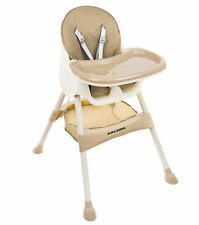 Hochstuhl für Babys Verstellbar Klappbar Tisch 5-Punkt Gurt 12060
