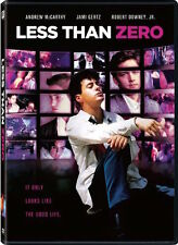 LESS THAN ZERO DVD - SINGLE DISC EDITION - NEW UNOPENED - ANDREW MCCARTHY