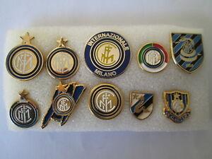 J4 Lot 10 Pins Inter FC Club Brosche Football Fußball Soccer Jahrhundertelang