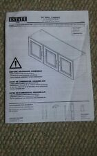 "Estate by RSI 54"" Wall Cabinet Maunel Owners Booklet"