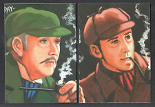 SHERLOCK HOLMES: THE LONG STORIES (Cult-Stuff/2015) Complete CASE CARD SET (2)