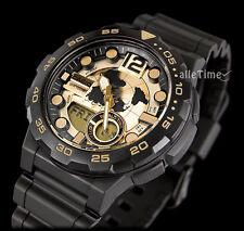 Casio watch GOLD & BLACK WORLD MAP TRAVELER ADVENTURE telenemo g shock OROLOGIO