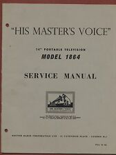 Service Manual 'His Master's Voice'  Portable Television 1864   ya.23