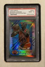 🚀📈1994 Topps Finest Refractor Card Michael Jordan PSA 9 Rare #45 💎