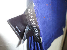 Eileen Fisher Scarf Ultramarine Blue  Artisinal Galaxy Wool Foil  NWT